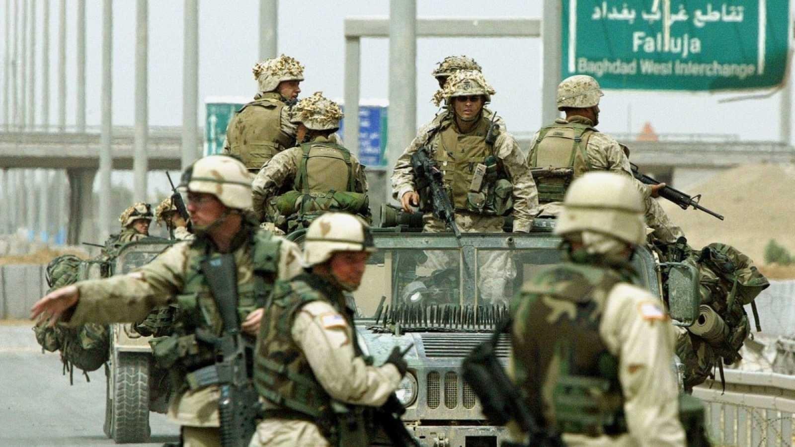 Tropas estadounidenses en Iraq.