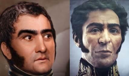 San Martín y Bolívar.