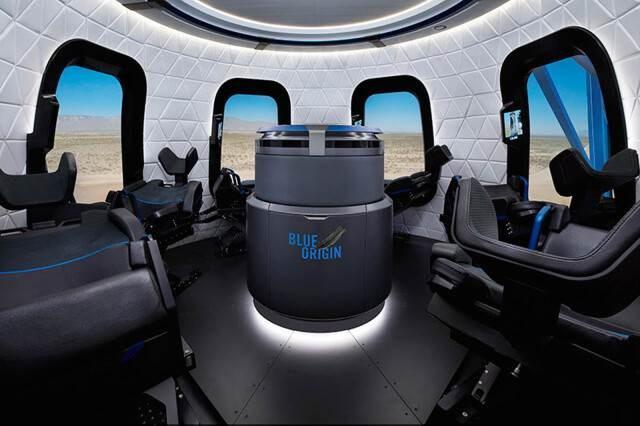 Interior de la cápsula para turistas de New Shepard (Foto: Xataka)