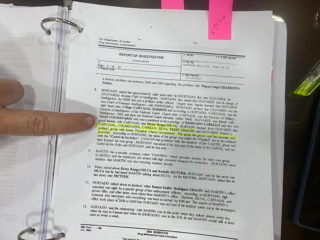 Parte del contenido del testimonio falso del narcotraficante Roberto Méndez Hurtado donde involucra a funcionarios venezolanos con supuesto narcotráfico.
