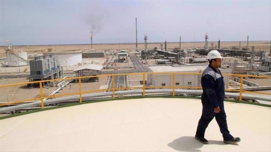 Campo de gas de Siba, en Basora, en Iraq.