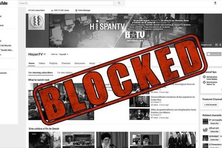 Google vuelve a bloquear la cadena iraní HispanTV.