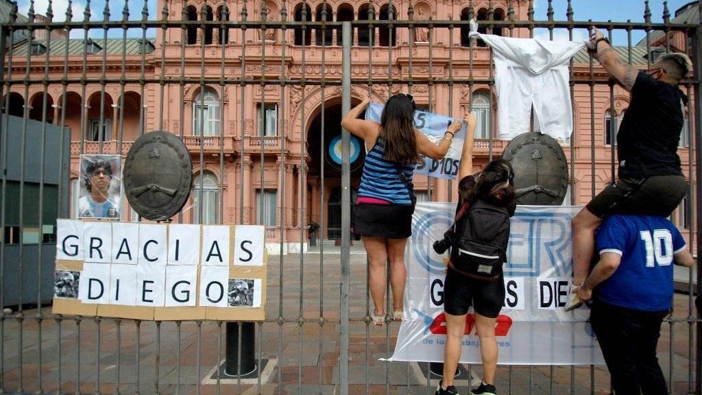 El último adiós al D10S en Argentina