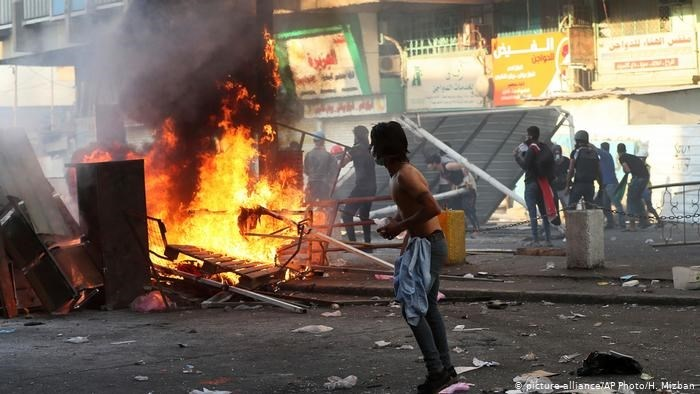 Protestas en Iraq.