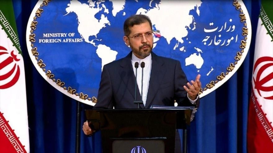 Saeed Khatibzadeh, vocero de la Cancillería iraní.