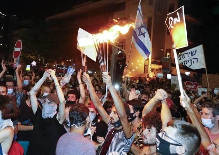 Por tercera vez en una semana miles de israelíes protestan contra Netanyahu
