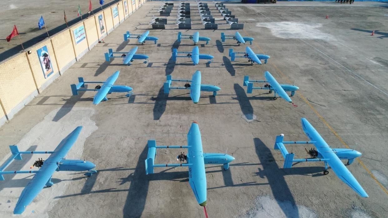 Drones iraníes. Fuente: Fars News