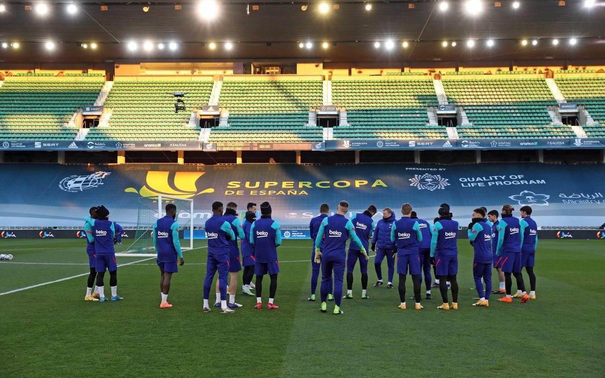 Barcelona mide su inspiración futbolística en Supercopa de España