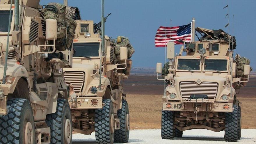 EE.UU. ingres nuevo convoy de refuerzos logísticos a sus bases ilegales en Siria.
