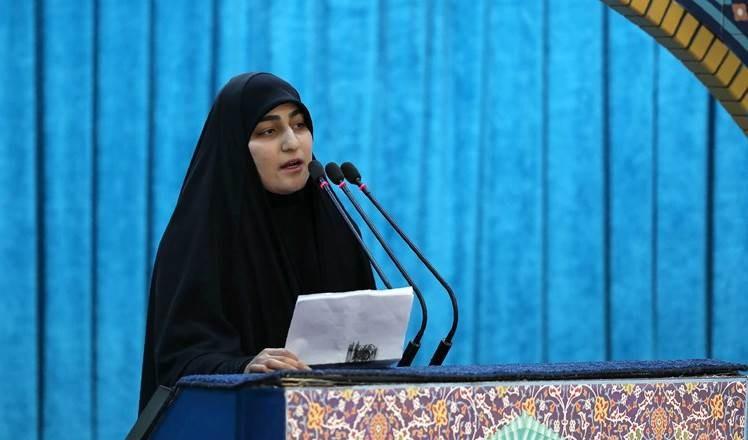 Zainab Suleimani, hija del mártir el general Qassem Suleimani.