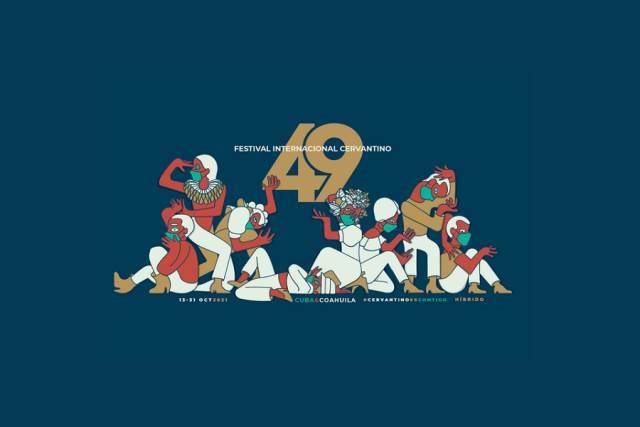 El cartel de  la edición 49 del Festival Internacional Cervantino 2021, fue diseñado por  Ángel Montiel, estudiante de Artes Digitales de la Universidad de Guanajuato.