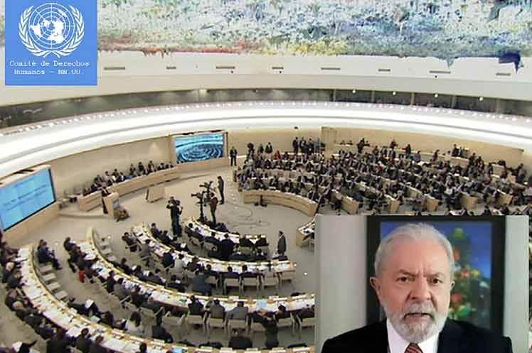 Denuncia de Lula ante la ONU será examinada en mayo de 2022