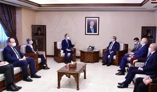 Canciller Al-Miqdad discute con enviado especial de la ONU situación en Siria