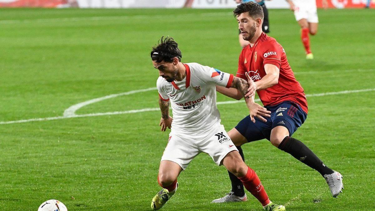 Sevilla vence a Osasuna y es tercero en fútbol español