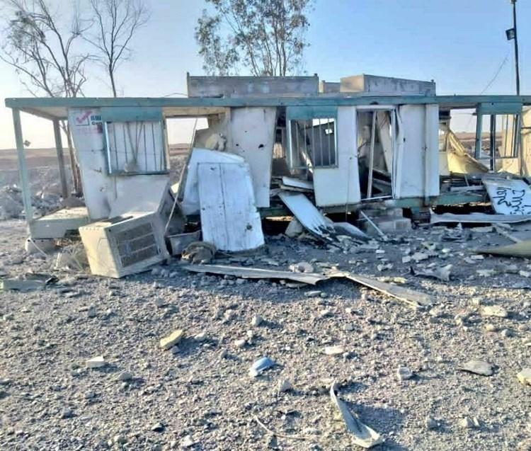 Al Mayadeen publica nuevas escenas del sitio atacado por EE.UU. en Siria.