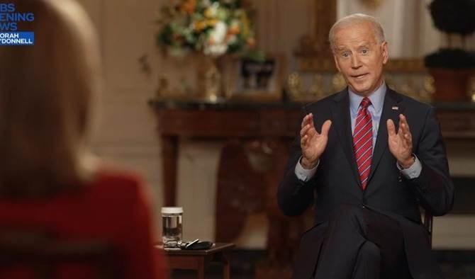 Joe Biden ofrece entrevista a la cadena estadounidense CBS News.