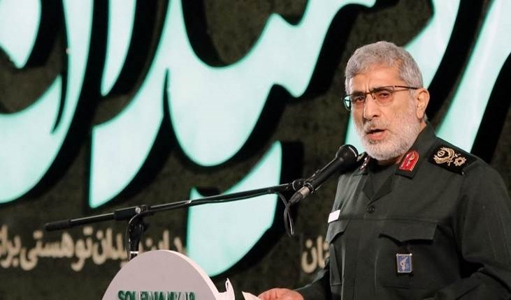 El comandante de la Fuerza Quds de la Guardia Revolucionaria de Irán, el general de brigada Ismail Qaani.