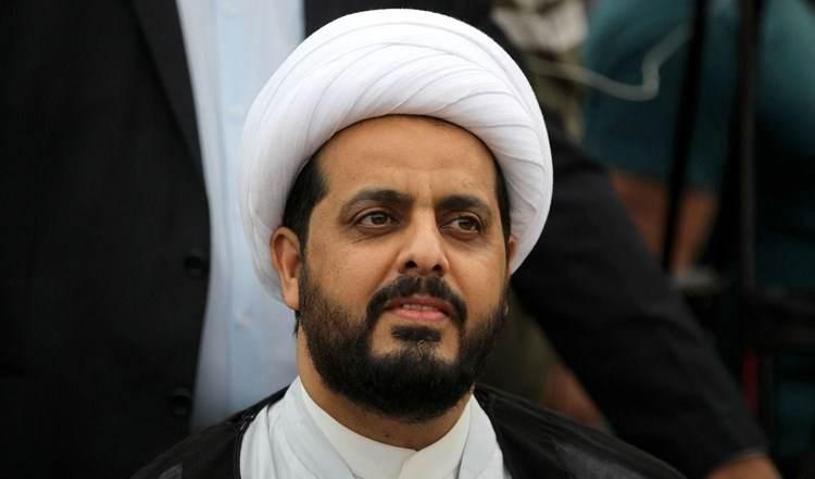 El secretario general del Movimiento Asa'ib Ahl al-Haq, Cheikh Qais Khazali.