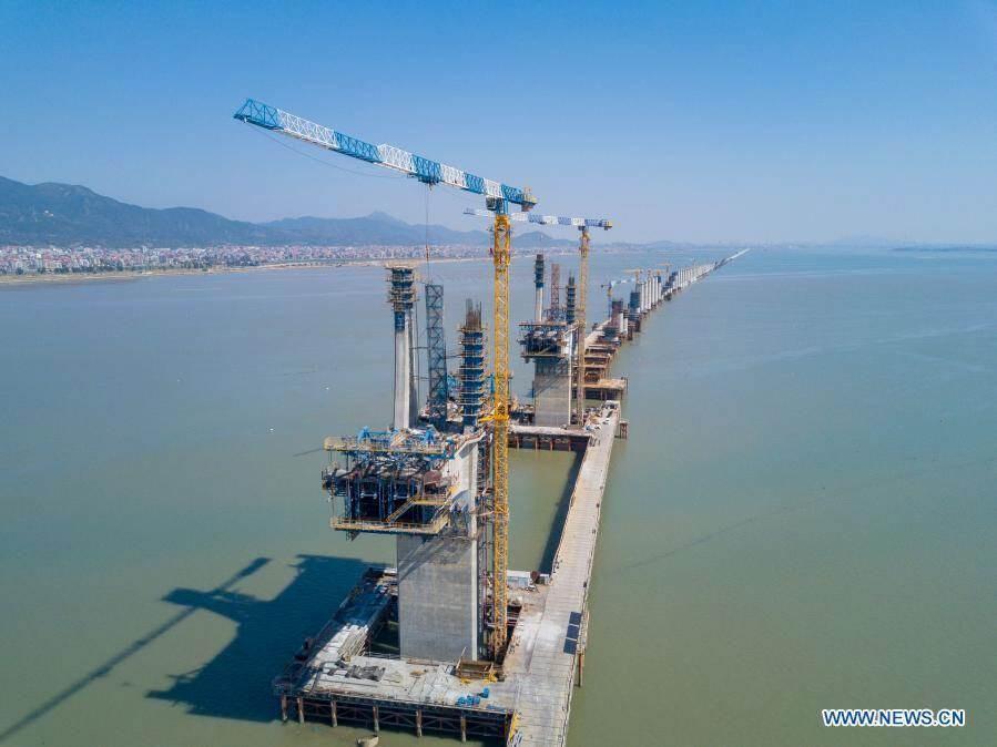 Primera línea de alta velocidad a través del mar de China (Foto: Global Times)