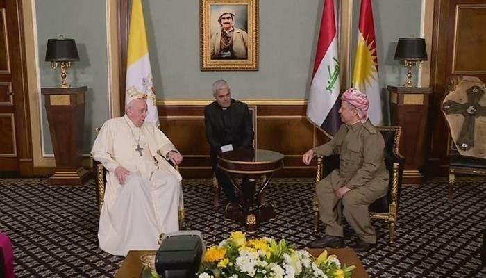 Barzani: La visita del Papa a Iraq y la región del Kurdistán es histórica