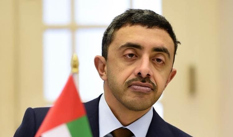 El ministro de Relaciones Exteriores de los Emiratos Árabes Unidos, Abdullah bin Zayed Al Nahyan.