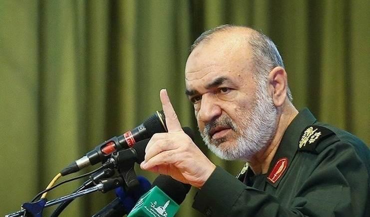 El comandante del Cuerpo de la Guardia Revolucionaria Islámica en Irán, el mayor general Hossein Salami.
