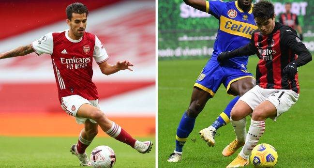 Dani Ceballos y Brahim, cedidos por el Madrid en el Arsenal y el Milan, respectivamente. (Foto: AS)