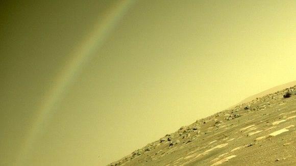 El Perserverance capta un arcoiris en Marte y la NASA explica