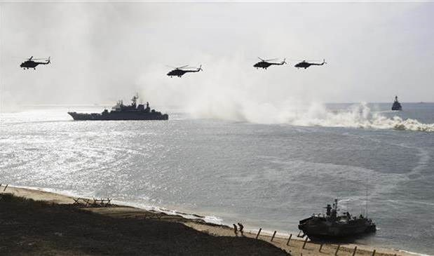 Rusia envía buques de guerra al Mar Negro.