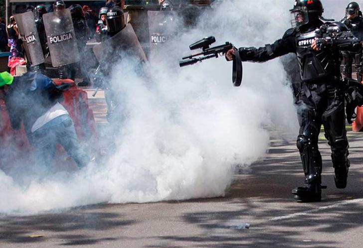 Triste saldo deja la brutalidad policial contra manifestantes en Colombia