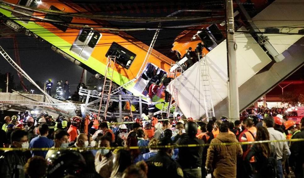 Mueren 15 personas durante accidente del Metro en México