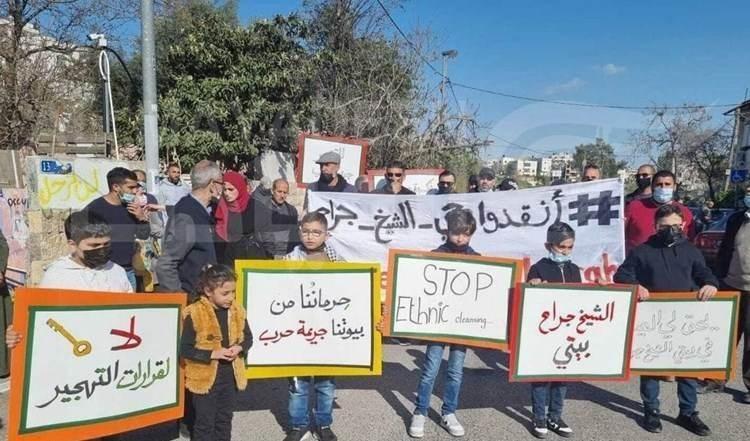 Heridos diez palestinos por agresiones israelíes en el barrio de  Sheikh Jarrah.