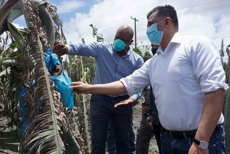 ALBA-TCP evalúa daños por volcán en San Vicente y Granadinas