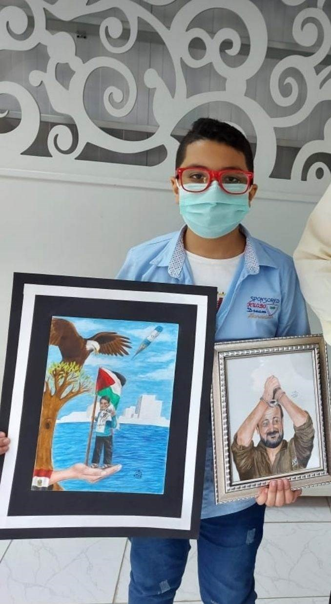 Niños de Egipto se solidarizan con los niños y héroes de Palestina