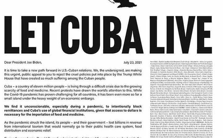 Cuba recibe apoyo y solidaridad de personalidades de todas las latitudes