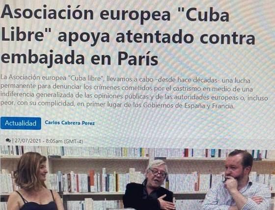 Responsables de atentado contra embajada de Cuba en Francia reconocen autoría del hecho