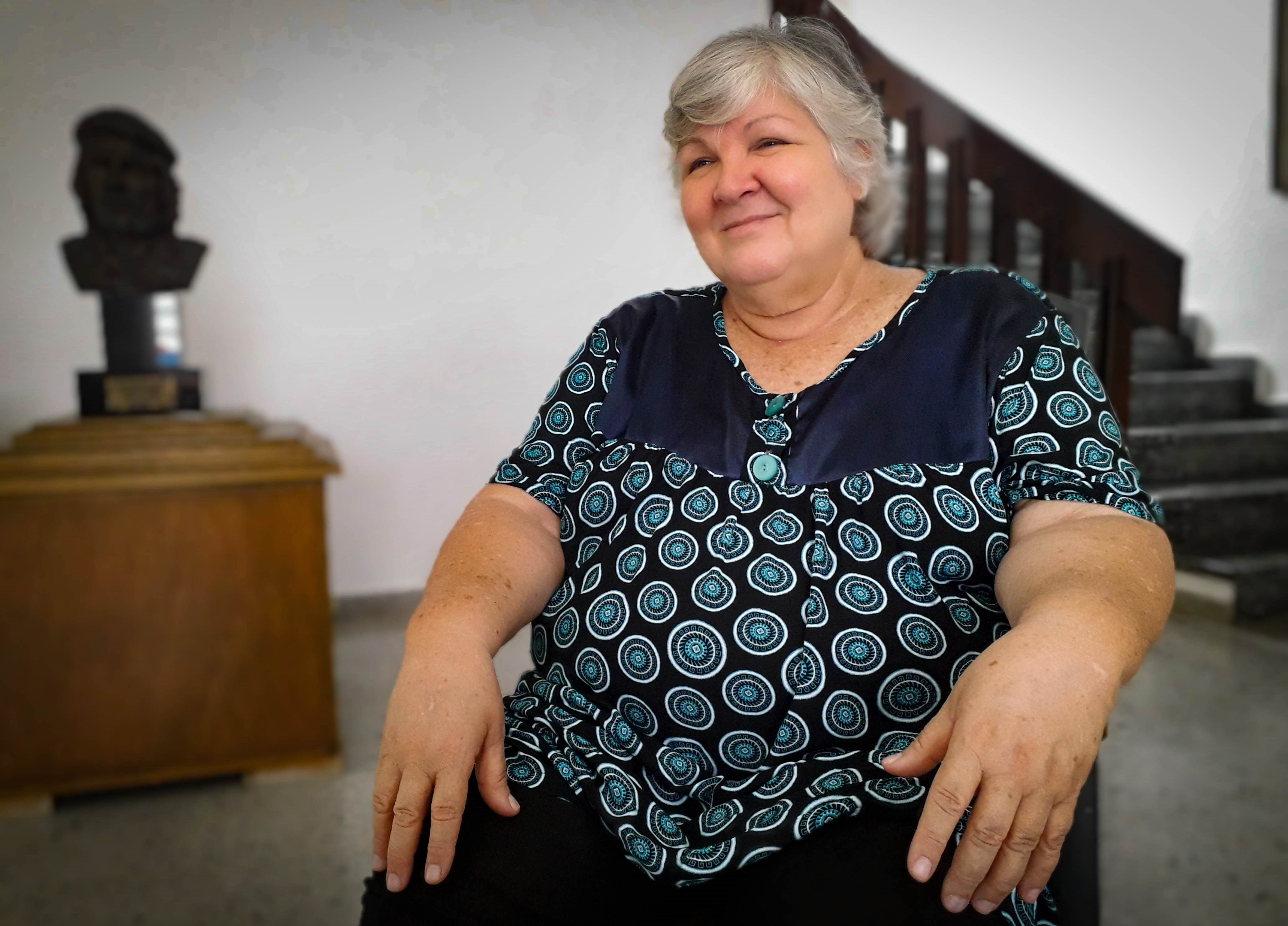 """Aleida Guevara: """"En Cuba la tranquilidad es absoluta"""". Foto: Yusmilis Dubrosky / Al Mayadeen Español"""