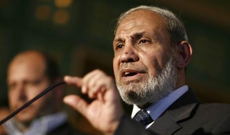 El miembro del buró político de Hamas, Mahmoud Al-Zahar.