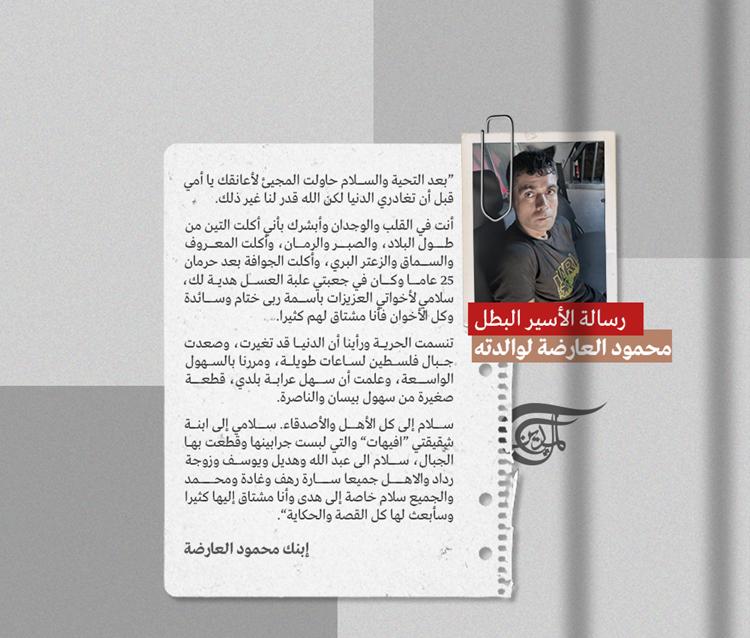 """Prisioneros palestino Mahmoud Al-Ardah: """"Madre, cuanto quise abrazarte"""