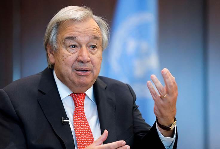 Guterres llama a cooperar para resolver los problemas del mundo
