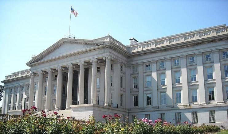 Sede del Departamento del Tesoro de Estados Unidos.
